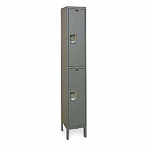 Wardrobe Locker,Assembled,2 Tier,1-Point