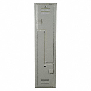 "Wardrobe Z Locker, Assembled, Two Tier, 15"" Overall Width"
