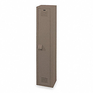"Wardrobe Locker, Assembled, One Tier, 12"" Overall Width"