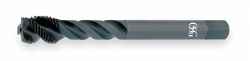 Thread Size #6-32 High Speed Steel UNC Spiral Flute Tap Overall Length 2 Black Oxide