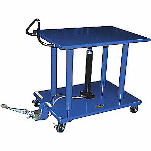 "Scissor Lift Cart, Fixed, 4000 lb., Platform Width 24"", Platform Length 36"", Raised Height 54"""