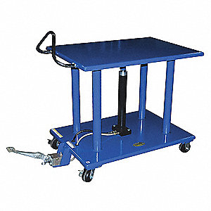 "Scissor Lift Cart, Fixed, 4000 lb., Platform Width 30"", Platform Length 42"", Raised Height 54"""