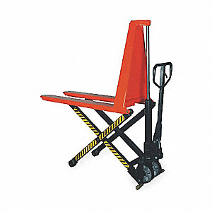 "Pallet Lifter, 2200 lb. Load Capacity, 31-1/2""Fork Height Raised, 3-3/8"" Fork Height Lowered"