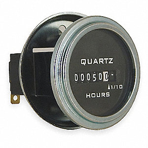 HOUR METER,ELECTRICAL,ROUND,10-80VD
