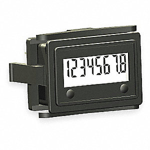 HOUR METER,FLUSH MINI RECTANGULAR,L
