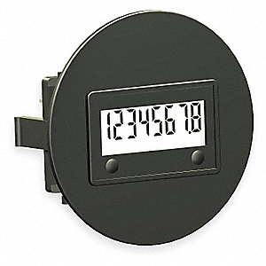 HOUR METER,SAE ROUND FLUSH MOUNT,LC
