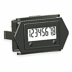 Hour Meter,No Hole Rectangular,LCD