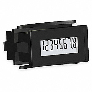 Hour Meter, 3 to 30VDC Operating Voltage, Number of Digits: 8, Rectangular Bezel Face Shape