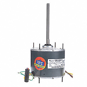 1/4 HP Condenser Fan Motor,Permanent Split Capacitor,1075 Nameplate RPM,460 Voltage,Frame 48