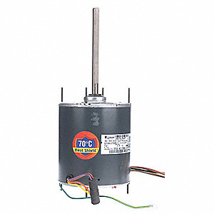 3/4 HP Condenser Fan Motor,Permanent Split Capacitor,1075 Nameplate RPM,460 Voltage,Frame 48