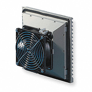 "Square Axial Fan, 5-5/6"" Width, 5-5/6"" Height, 115VAC Voltage"