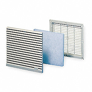 ABS Plastic Exhaust Filter, 1 EA,For Fan Size (In.) 2PVE3 thru 2PVE5