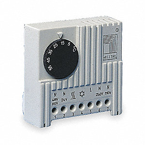 ABS Plastic and Bimetal Thermostat, 1 EA