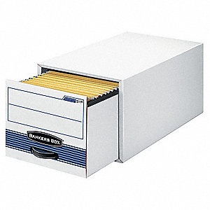 Banker Box,Drawer,Lgl,Wht/Blu,PK6