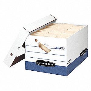 BANKER BOX,LTR/LGL,WHT/BLU,PK12