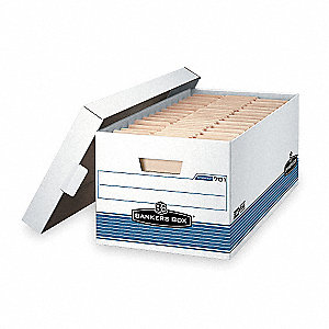 BANKER BOX,LGL,700LB,WHT/BLUE,PK12