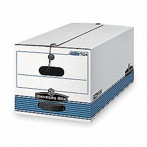 BANKER BOX,LTR,500LB,WHT/BLU,PK12