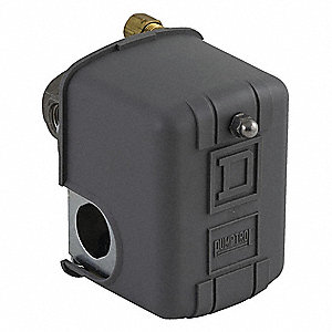 "Air Compressor Pressure Switch; Range: 40 to 150 psi, Port Type: (4) Port, 1/4"" FNPS"