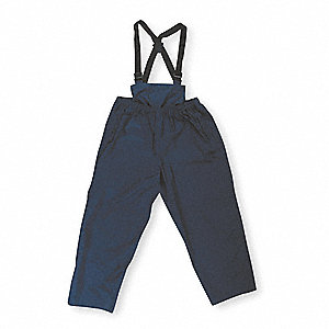 Rain Bib Overall,Unrated,Blue,3XL