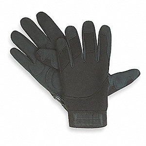 Abrasion Resistant Mechanics Gloves, Black, M, PR 1