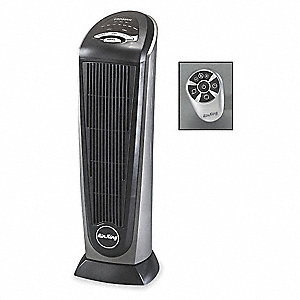 "7-1/4"" x 8-1/2"" x 23"" Fan Forced Oscillating Electric Pedestal Heater, Gray"