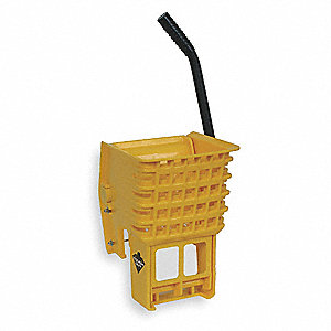 Side Press Mop Wringer, Yellow, Plastic, 16 to 24 oz. Mop Capacity