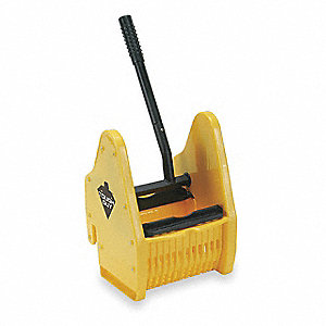 Down Press Mop Wringer, Yellow, Plastic, 16 to 24 oz. Mop Capacity