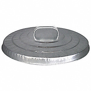 Round Flat Top Trash Can Top for 10 gal., Silver