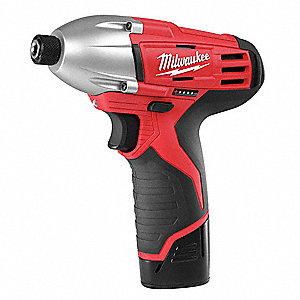 "1/4"" Hex Cordless Impact Driver Kit, 12.0 Voltage, 850 in.-lb. Max. Torque, Battery Included"