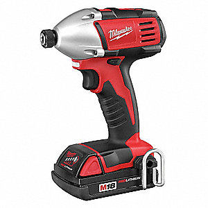 "1/4"" Cordless Impact Driver Kit, 18.0 Voltage, 1400 in.-lb. Max. Torque, Battery Included"