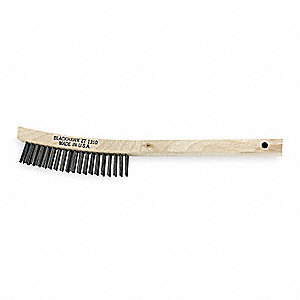 Tire and Rim Brush,14 In. L,Steel Wire