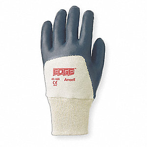 Foam Nitrile Coated Gloves, Glove Size: S, Blue/White