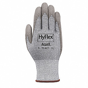 Cut Resistant Gloves, Gray, 10, PR