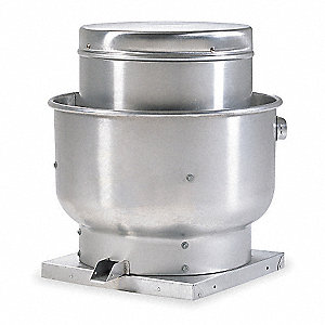 "Unassembled Upblast Ventilator, 11-1/4"" Wheel Dia., Belt-Drive"