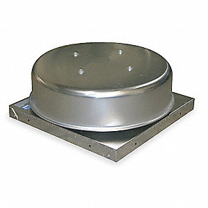 Gravity Roof Vent,19 In Sq Base,312 CFM