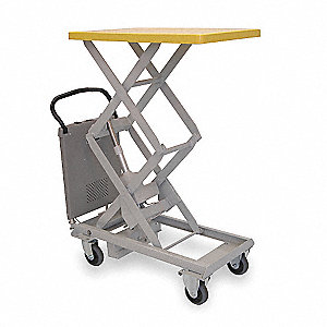 Scissor Lift Cart,220 lb.,Steel,Fixed
