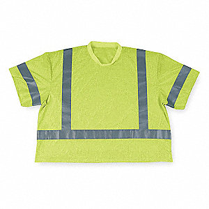 T-Shirt,Polyester Mesh,Lime,2XL