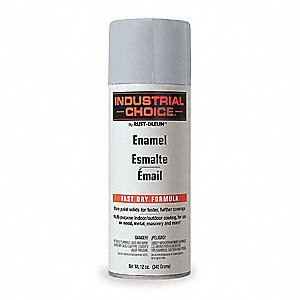 Industrial Choice Electrical Utility Industry Spray Paint in Gloss ANSI 61 Light Gray for Masonry, M
