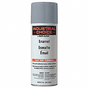 Industrial Choice Electrical Utility Industry Spray Paint in Gloss ANSI 49 Medium Light Gray for Mas