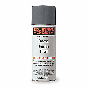 Industrial Choice Electrical Utility Industry Spray Paint in Gloss ANSI 70 Light Gray for Masonry, M
