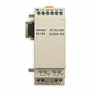 Input/Output Module, Number of Inputs: 4, Number of Outputs: 4, Power Required: 100 to 240VAC