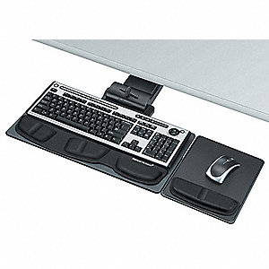 Keyboard Tray,5-3/4in,Graphite/Silver