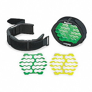 Black w/Green and Yellow Inserts Cable and Wire Organizer for Cables, Cords, Chargers, Lights