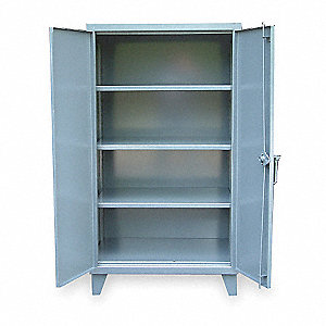 "Storage Cabinet, Dark Gray, 66"" Overall Height, Assembled"