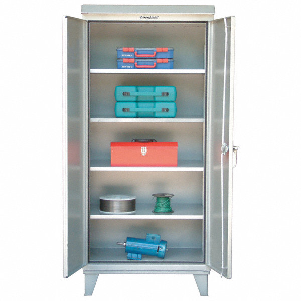 strong hold storage cabinet silver 78 overall height