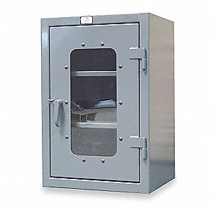 "Heavy Duty Storage Cabinet, Dark Gray, 42"" H X 48"" W X 24"" D, Assembled"