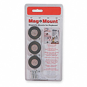 MAGNETIC PEGBOARD MOUNT,1 5/8,PK 3