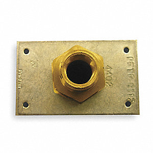 Termination Plate,Tube Size 1/2 In,PK6