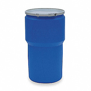 Transport Drum,Open Head,14 gal.,Blue