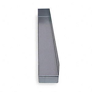 "Shelf Divider, Galvanized Steel, Silver, 2"" x 3"" x 27"""